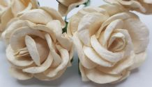 IVORY GRANDIFLORA (3.5 cm) Mulberry Paper Roses